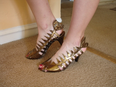 Dead Fish Shoes In Gold Fix Your Hair